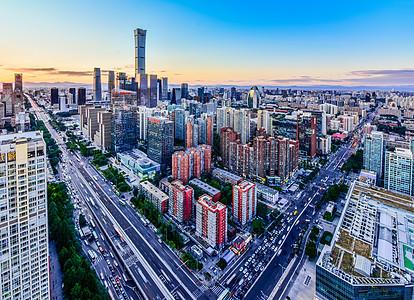 北京城市国贸CBD全景建筑图片