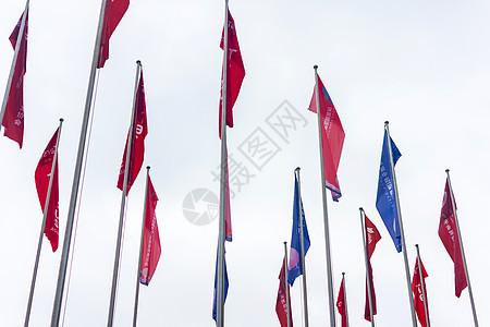 彩色旗帜图片