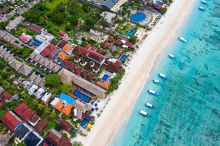 航拍印度尼西亚蓝梦岛图片