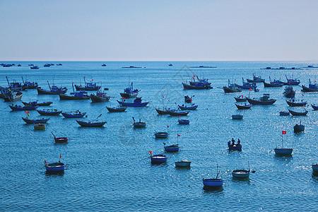 越南美奈渔村海洋捕捞场景图片