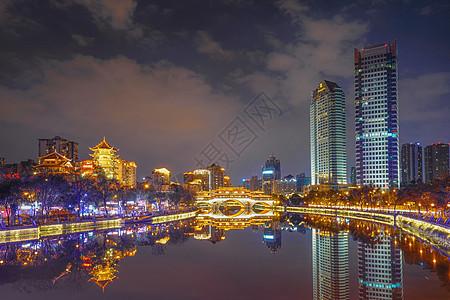 成都九眼桥夜景图片