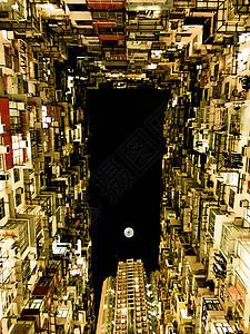夜晚的香港鰂鱼涌图片