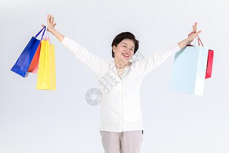 中老年女性618购物图片