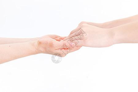 关爱老人手势图片