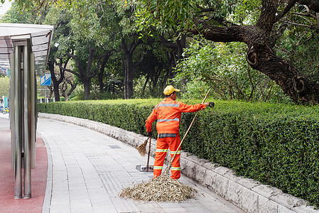 城市环卫工人图片