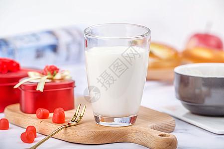 牛奶饮料早餐图片