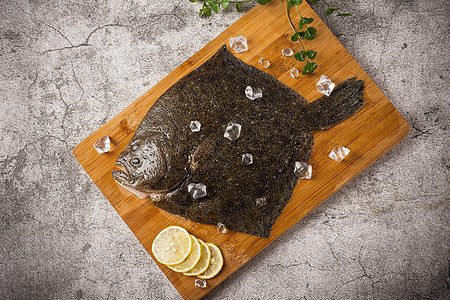 砧板上的多宝鱼图片