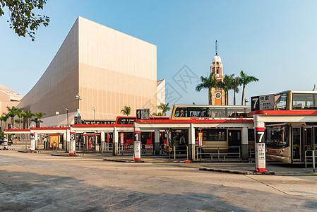 香港码头公交车站图片