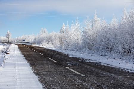 冰雪公路图片