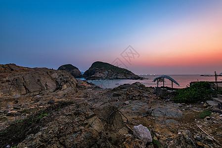 香港海岛日落图片
