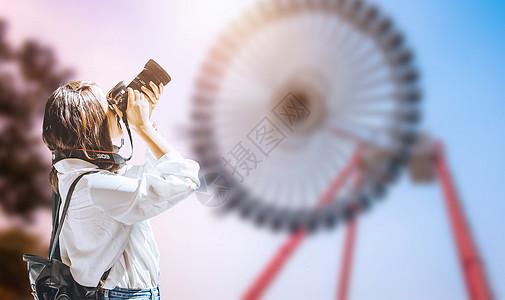 一个人旅行图片