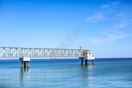 天津滨海海边桥梁图片