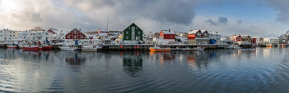 挪威罗弗敦群岛世界文化遗产Nusfjord渔村图片