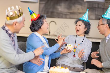 老年生日派对庆祝图片