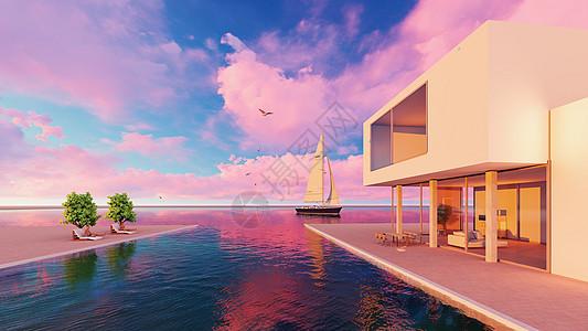 休闲舒适度假海景房图片