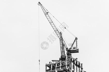 城市在建楼房塔吊 图片