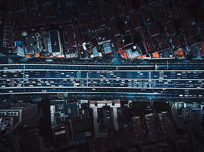 上海高架桥航拍图片