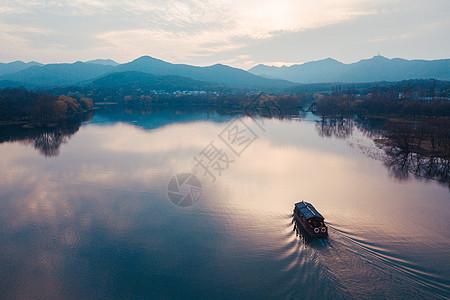 航拍西湖图片