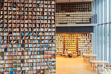 网红唯美图书馆晓书馆图片