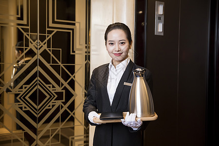 酒店服务人员图片