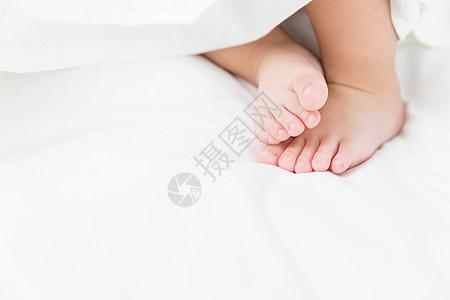 婴儿脚特写图片