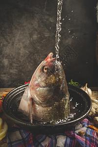 生鲜鱼头图片
