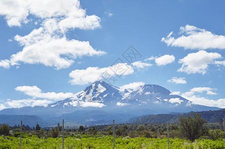 美国西部雪山图片