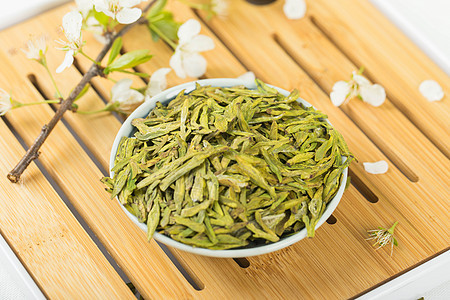 茶艺茶道春茶龙井绿茶图片