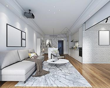 现代简约风客厅室内设计效果图 图片