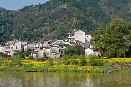 古徽州新安江春季美景图片