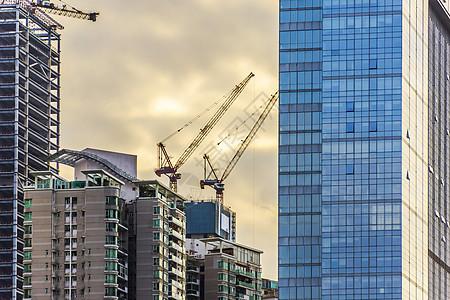 城市在建建筑背景图片