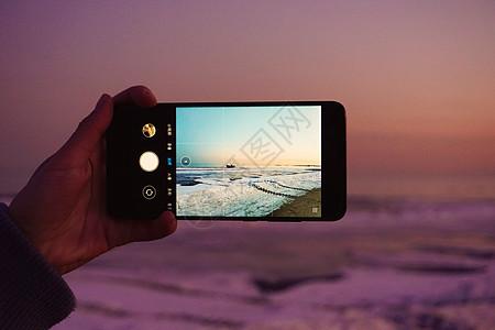 海边拍照图片
