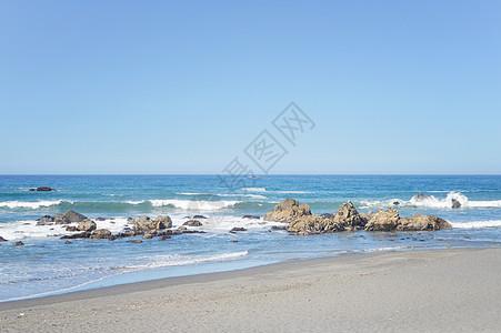 美国西海岸海岸线图片