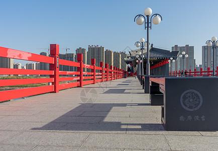 咸阳古渡廊桥图片
