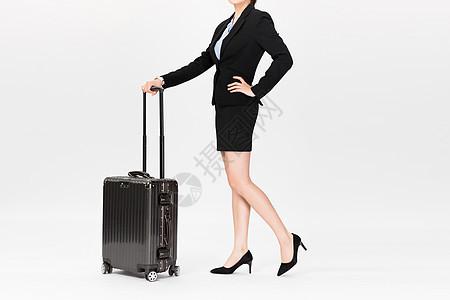商务女性拉行李箱图片