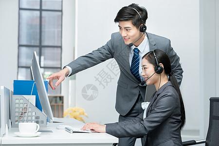 商务客服话务员图片
