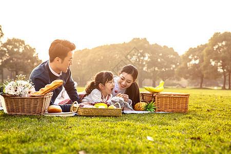 家庭欢乐野餐图片