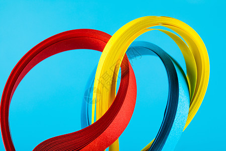 彩色纸条背景图片