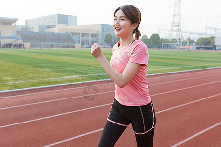 美女青年跑步健身图片