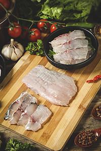新鲜鱼片图片