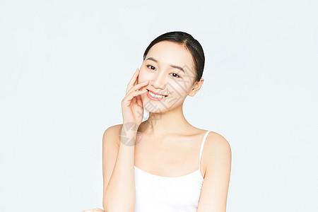 女性化妆面部展示图片