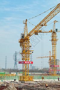 建筑工地塔吊图片