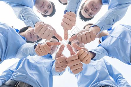 团队人员集体点赞图片