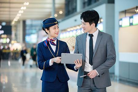 空姐和乘客图片