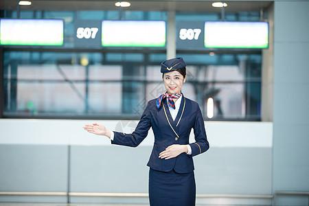 机场空姐服务图片