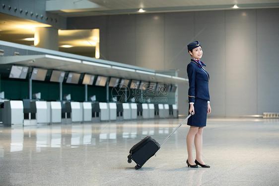 机场空姐乘务员图片
