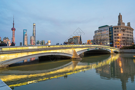 上海苏州河城市景观图片