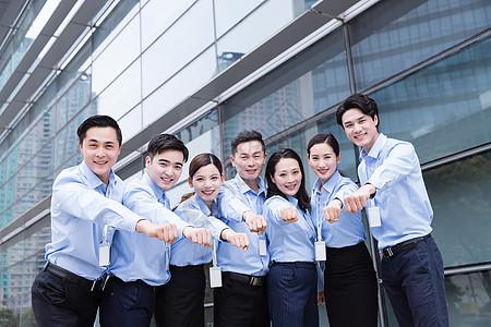 企业团队蓝领形象图片