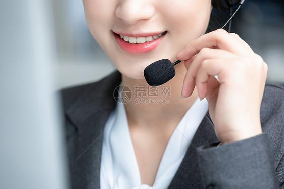话务员客服美女图片