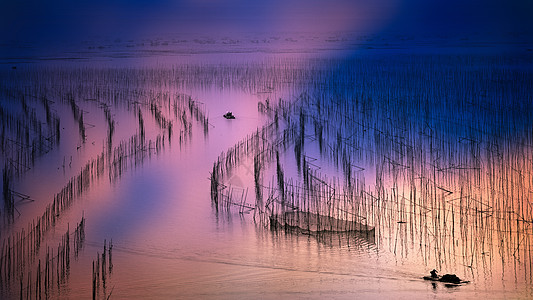 霞浦夕阳之光图片